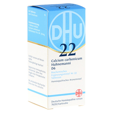 BIOCHEMIE DHU 22 Calcium carbonicum D 6 Tabletten 80 Stück N1
