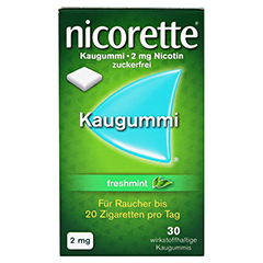 Nicorette 2mg freshmint 30 Stück - Vorderseite