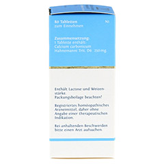 BIOCHEMIE DHU 22 Calcium carbonicum D 6 Tabletten 80 Stück N1 - Linke Seite