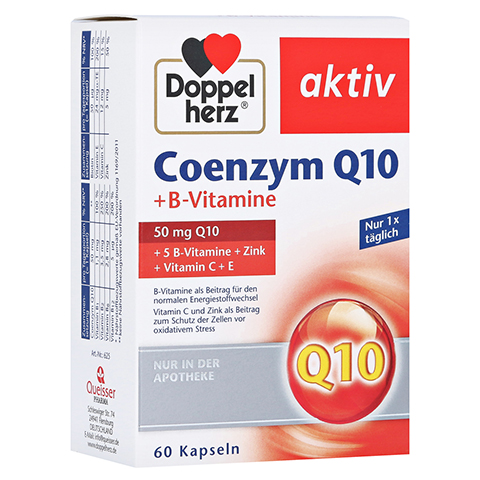 DOPPELHERZ Coenzym Q10+B Vitamine Kapseln 60 Stück