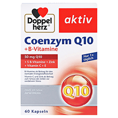 DOPPELHERZ Coenzym Q10+B Vitamine Kapseln 60 Stück - Vorderseite