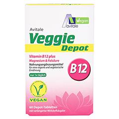 VEGGIE Depot Vitamin B12+Magnesium+Folsäure Tabl. 60 Stück - Vorderseite