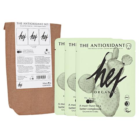 HEJ ORGANIC The Antioxidant Set Cactus Gesichtsmasken 3x22 Gramm