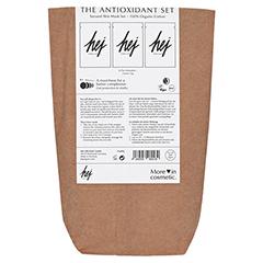 HEJ ORGANIC The Antioxidant Set Cactus Gesichtsmasken 3x22 Gramm - Vorderseite