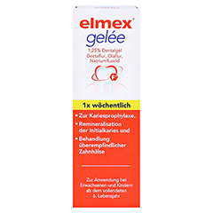 Elmex Gelee + gratis elmex Kariesschutz Zahnpasta 19ml 25 Gramm N1 - Vorderseite