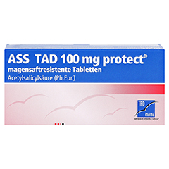 ASS TAD 100mg protect 50 Stück N2 - Vorderseite