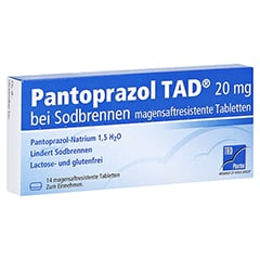 Pantoprazol TAD 20mg bei Sodbrennen 14 Stück
