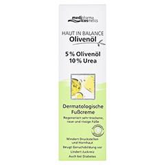 HAUT IN BALANCE Olivenöl Fußcr.5%Oliven.10%Urea 100 Milliliter - Vorderseite