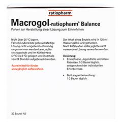Macrogol ratiopharm Balance 30 Stück N2 - Rückseite