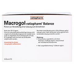 Macrogol ratiopharm Balance 50 Stück N3 - Rückseite