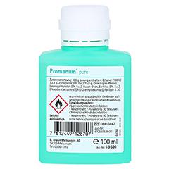 PROMANUM pure Händedesinfektion 100 Milliliter - Rückseite