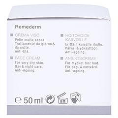WIDMER Remederm Gesichtscreme leicht parfümiert 50 Milliliter - Linke Seite