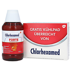 Chlorhexamed FORTE alkoholfrei 0,2% + gratis Chlorhexamed Kühlpad