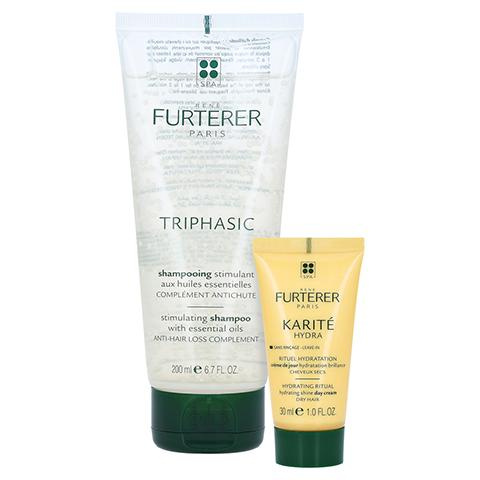 René Furterer Triphasic Stimulierendes Shampoo + gratis FURTERER Karité Hydra 200 Milliliter