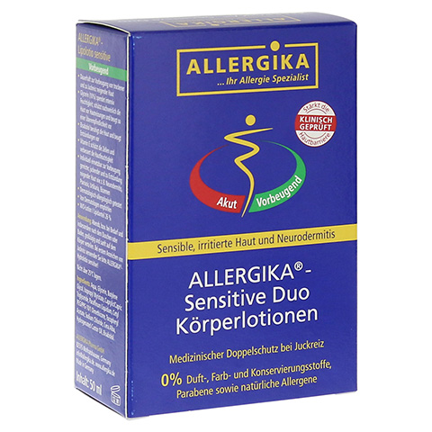 ALLERGIKA sensitive Duo Körperlotionen 2x50 Milliliter