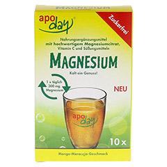 APODAY Magnesium Mango-Maracuja zuckerfrei Pulver 10x4.5 Gramm - Vorderseite
