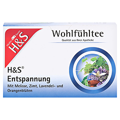 H&S Entspannung Filterbeutel 20 Stück - Vorderseite
