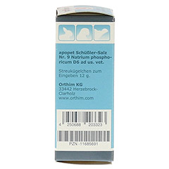 APOPET Schüßler-Salz Nr.9 Natrium phos.D 6 vet. 12 Gramm - Linke Seite