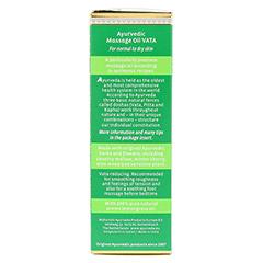 VATA Massageöl 200 Milliliter - Linke Seite