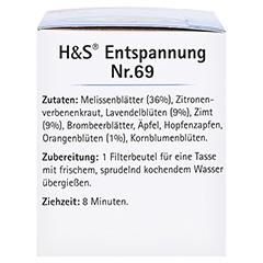 H&S Entspannung Filterbeutel 20x1.8 Gramm - Linke Seite