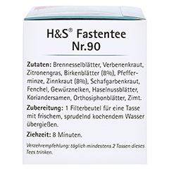 H&S Wohlfühltee Fastentee Filterbeutel 20x1.5 Gramm - Linke Seite