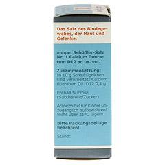 APOPET Schüßler-Salz Nr.1 Calcium fluor.D 12 vet. 12 Gramm - Rechte Seite