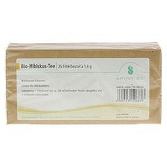 HIBISKUSTEE Bio Filterbeutel 25 Stück - Rückseite