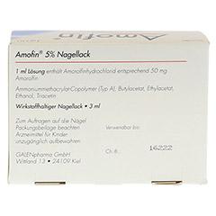 Amofin 5% 3 Milliliter N1 - Rückseite