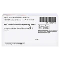 H&S Entspannung Filterbeutel 20x1.8 Gramm - Unterseite
