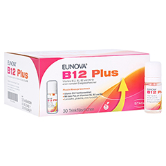 Eunova B12 Plus Lösung zum Einnehmen + gratis EUNOVA B12 Probe 30x8 Milliliter