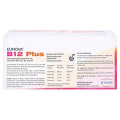 Eunova B12 Plus Lösung zum Einnehmen + gratis EUNOVA B12 Probe 30x8 Milliliter - Rückseite