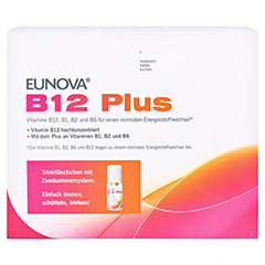 Eunova B12 Plus Lösung zum Einnehmen + gratis EUNOVA B12 Probe 30x8 Milliliter - Unterseite