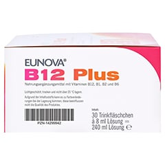 Eunova B12 Plus Lösung zum Einnehmen + gratis EUNOVA B12 Probe 30x8 Milliliter - Linke Seite