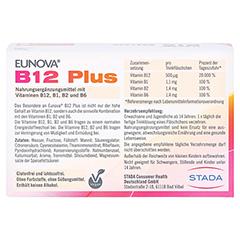 EUNOVA B12 Plus Trinkfläschchen + gratis EUNOVA B12 Probe 10x8 Milliliter - Rückseite