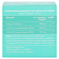 OMEGA-3 DHA+EPA vegan Kapseln 30 Stück - Rückseite