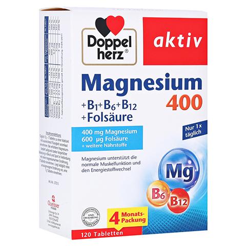 DOPPELHERZ Magnesium 400+B1+B6+B12+Folsäure Tabl. 120 Stück