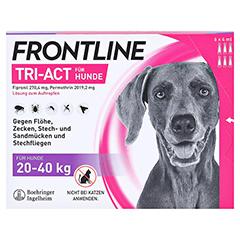 FRONTLINE Tri-Act Lsg.z.Auftropfen f.Hunde 20-40kg 6 Stück - Vorderseite
