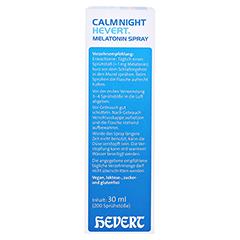 CALMNIGHT Hevert Melatonin Spray 30 Milliliter - Linke Seite