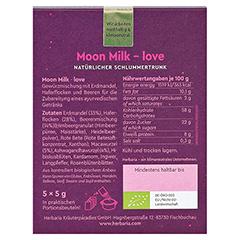 HERBARIA Moon Milk love Bio Pulver 5x5 Gramm - Rückseite