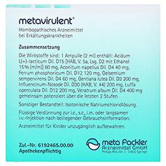METAVIRULENT Injektionslösung 5x2 Milliliter - Rückseite