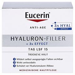 EUCERIN Anti-Age HYALURON-FILLER Tag trockene Haut + gratis Eucerin Hyaluron Spray 50ml 50 Milliliter - Vorderseite