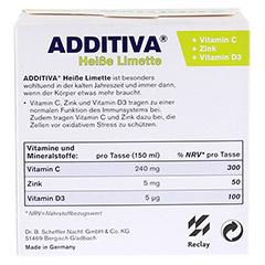 ADDITIVA heiße Limette Pulver 120 Gramm - Rückseite
