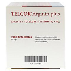 TELCOR Arginin plus Filmtabletten 240 Stück - Linke Seite