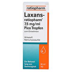 Laxans-ratiopharm 7,5mg/ml Pico 50 Milliliter N3 - Vorderseite