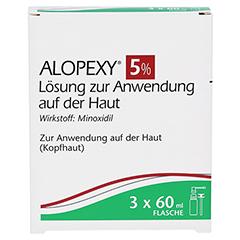 ALOPEXY 5% Loesung zur Anwendung auf der Haut 3x60 Milliliter - Vorderseite