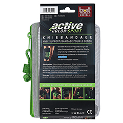 BORT ActiveColor Sport Kniebandage L schw./grün 1 Stück - Rückseite
