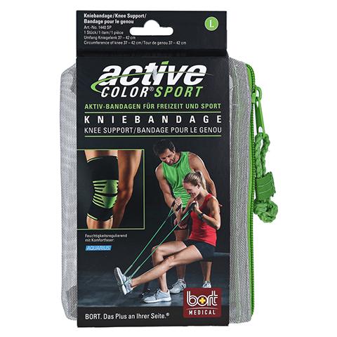 BORT ActiveColor Sport Kniebandage L schw./grün 1 Stück