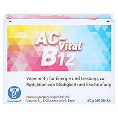 AC-Vital B12 Direktsticks m.Eiweißbausteinen 60 Stück - Vorderseite