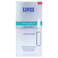 EUBOS ANTI-AGE Hyaluron Deep Effect Ampullen 7x2 Milliliter - Vorderseite