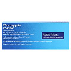 Thomapyrin CLASSIC Schmerztabletten 20 Stück N2 - Rückseite